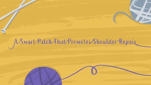 New oxford sparks animation a smart patch that promotes shoulder repair
