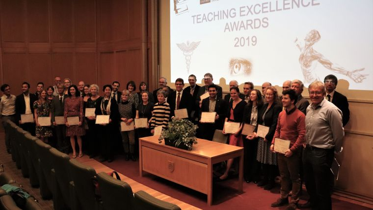 Group photo of Teaching Excellent Awards 2019 awardees
