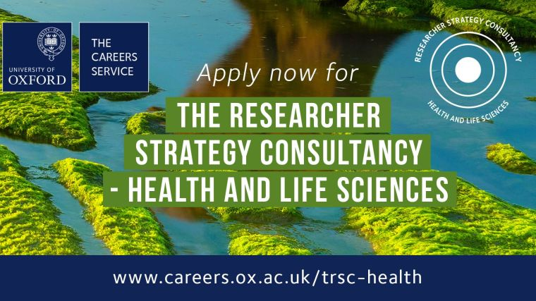 Apply now researcher strategy consultancy health and life sciences deadline 25 november