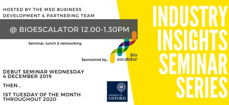 Brand new: Industry Insights Seminar Series