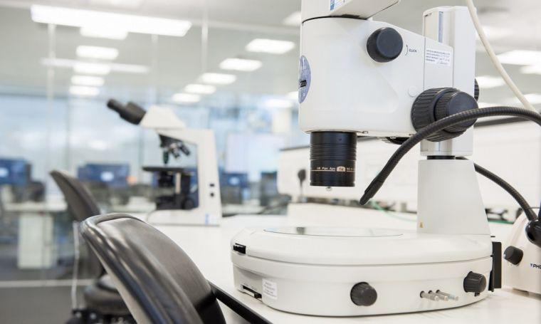 Close up of laboratory equipment