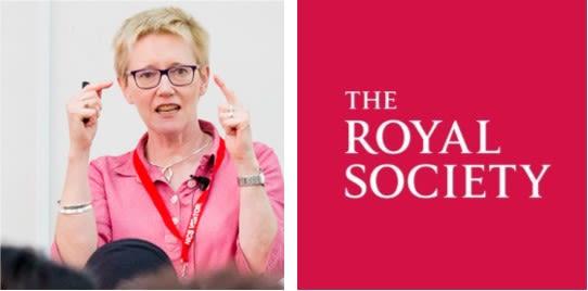 Dr Nessa Carey and Royal Society (logo)