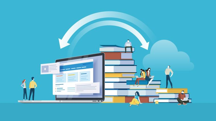Illustration concept of online education