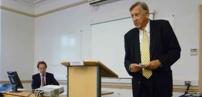 James Martin giving the keynote presentation