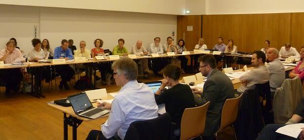 Workshop participants during discussion