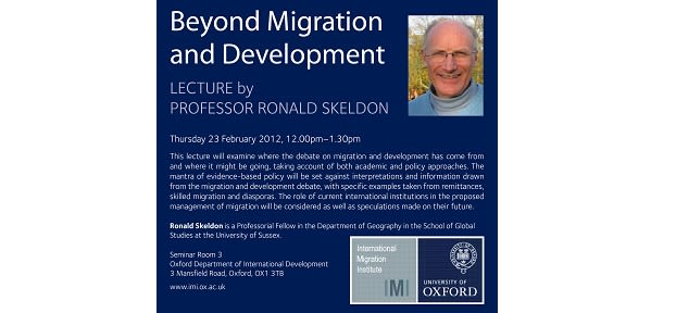Beyond migration and development