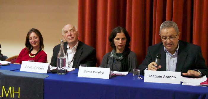 Scientific Advisory Committee member, Professor Joaquín Arango, speaking during the closing panel of the THEMIS Conference (Oxford 2013)