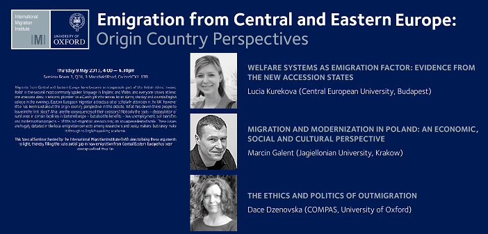 Emigration from central and eastern europe special seminar