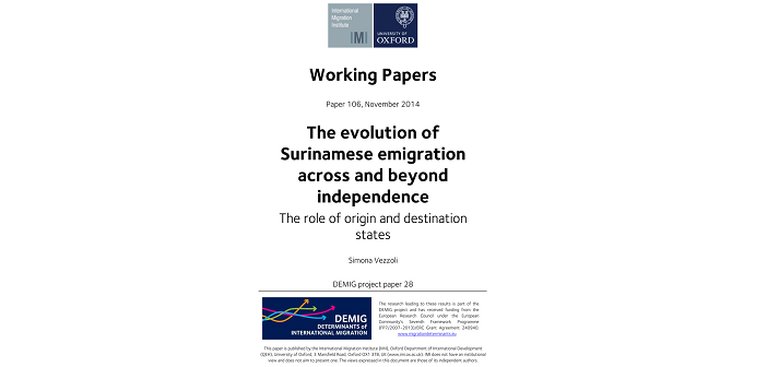 Origin and destination countries play important role in migration shows new demig paper