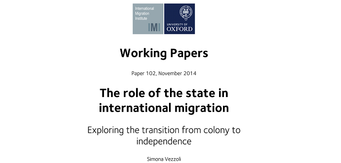 Latest demig paper explores the role of origin states in international migration