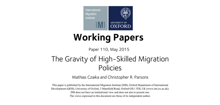 New working paper looks at effectiveness of immigration policies aimed at attracting high skilled workers