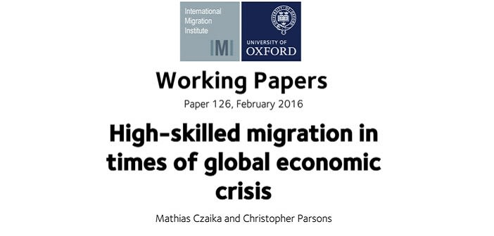 High skilled migration in times of global economic crisis new working paper