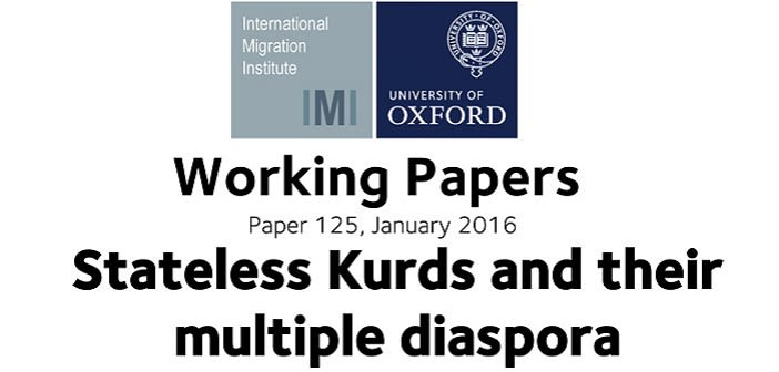 Stateless kurds and their multiple diaspora new working paper