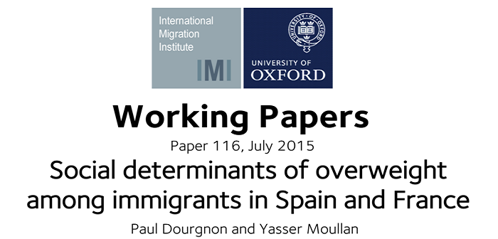 New working paper investigates the social determinants of overweight among immigrants in france and spain