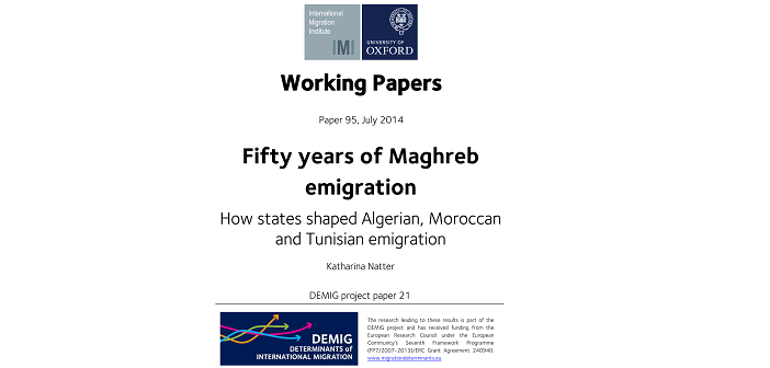 Comparison of maghreb migration patterns shows importance of origin states