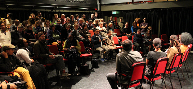 Audience during feature panel discussion 'Exploring Diaspora through the Arts'