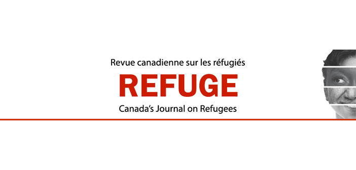 Cover of refuge canadas journal on refugees