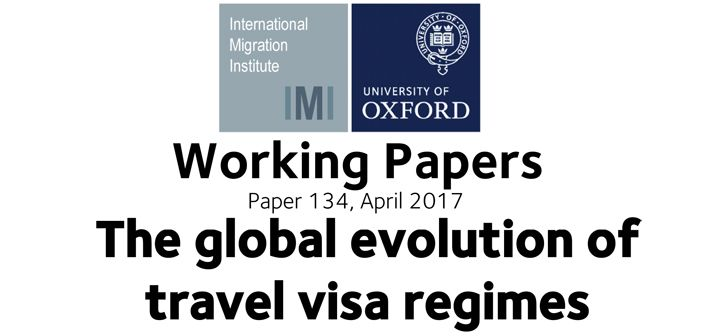 The global evolution of travel visa regimes