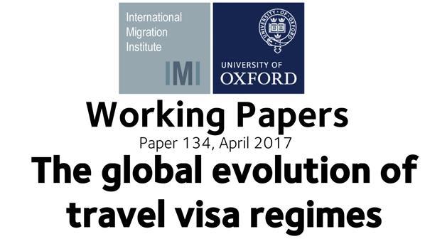 Working paper the global evolution of travel visa regimes