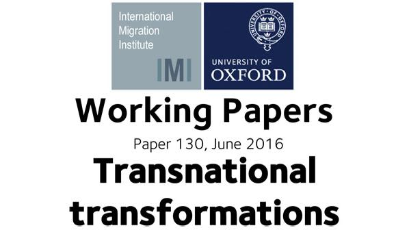 Working paper exploring relationship between migration and change