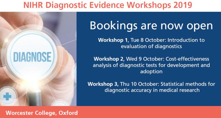 Diagnostic evidence workshops 2019