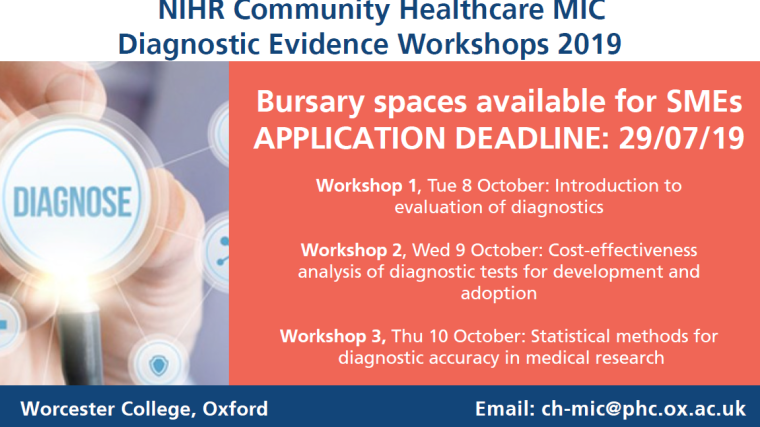 Bookings are now open for 2019s workshops on diagnostic evidence