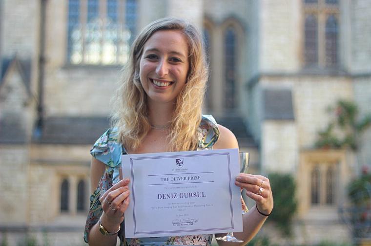 Deniz gursul wins oliver prize