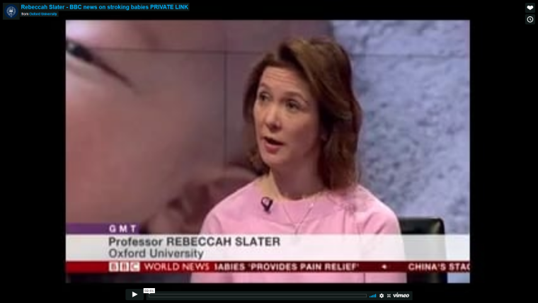 Rebeccah slater talks to the bbc about infant pain