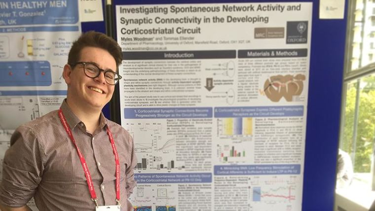 Myles presents his work at europhysiology 2018 at qeii centre london