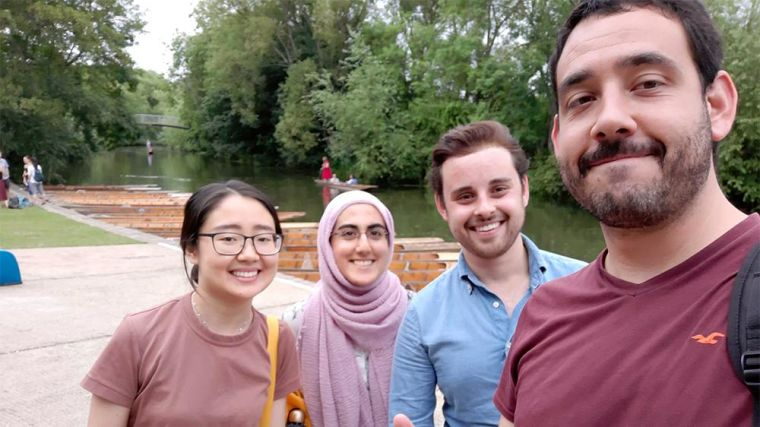 Punting trip with the lab