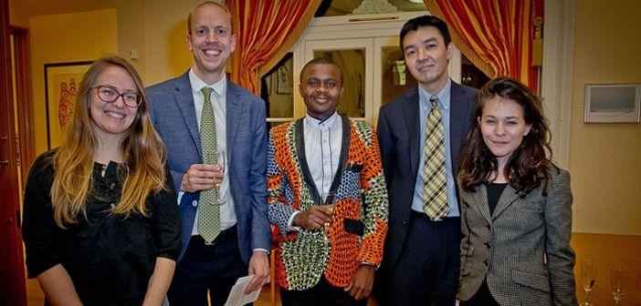HIP Team with Robert Hakiza at the award ceremony