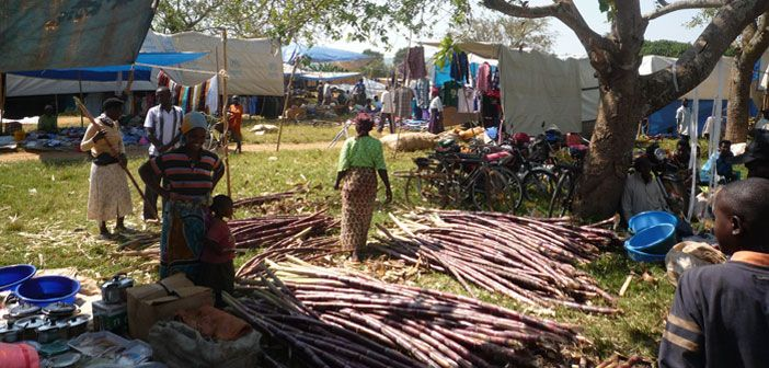 Refugee traders at Nakivale refugee settlement, Uganda.