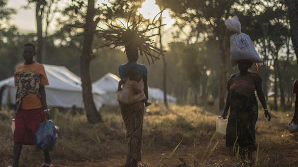 Burundian refugees in Nyaragusu refugee camp, Tanzania
