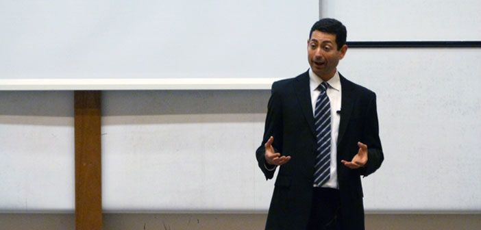 Professor Mariano-Florentino Cuéllar delivers the Annual Harrell-Bond Lecture at the Oxford Museum of Natural History