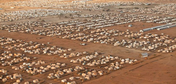 An aerial view of one of the camps at Dadaab, Kenya