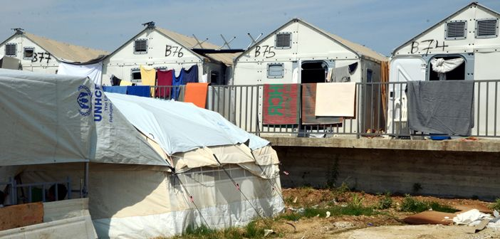 UNHCR housing units in Diavata camp, Greece