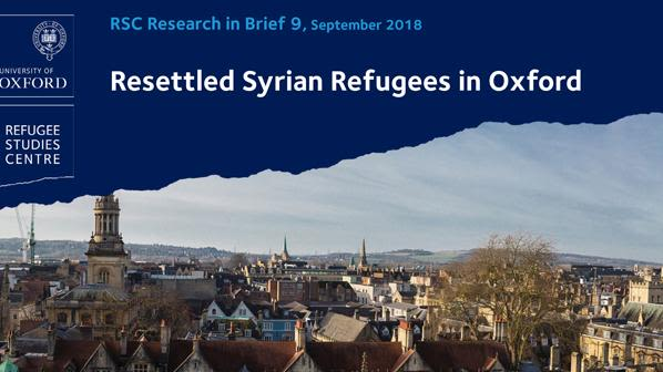 New research in brief on resettled syrian refugees in oxford