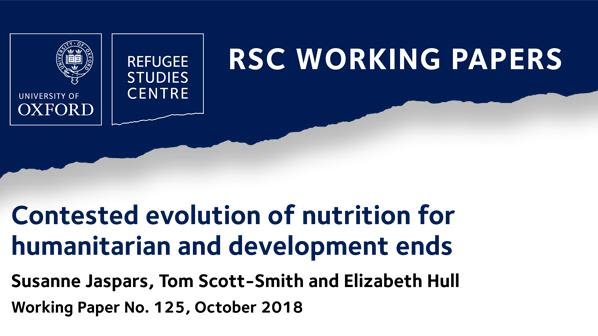 New working paper explores how humanitarian and development nutrition became dominated by medical science