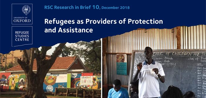 Research in brief refugees as providers of protection and assistance 1