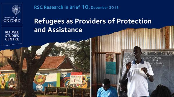 New research brief looks at refugees as providers of protection and assistance