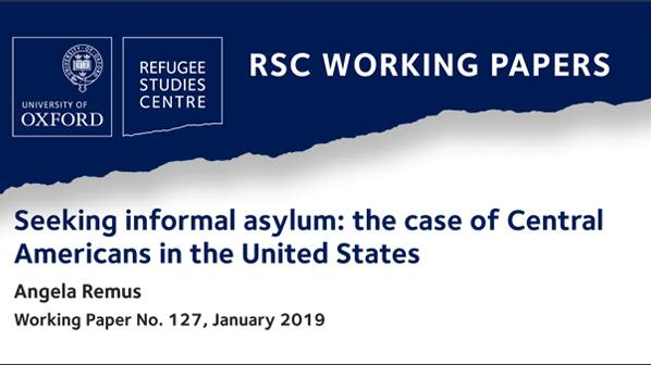 New rsc working paper on central americans seeking informal asylum in the united states