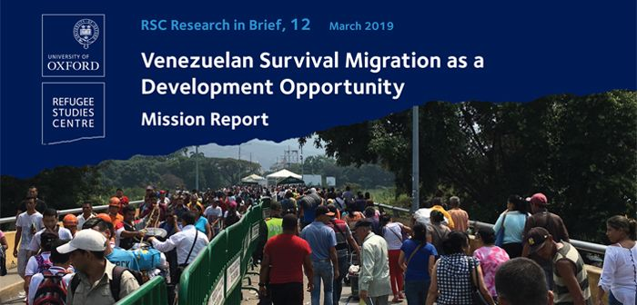 Research in brief venezuelan survival migration as a development opportunity