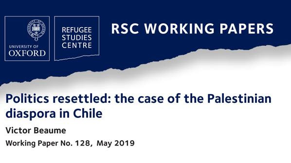 New rsc working paper on the politics of palestinian refugees resettlement in chile