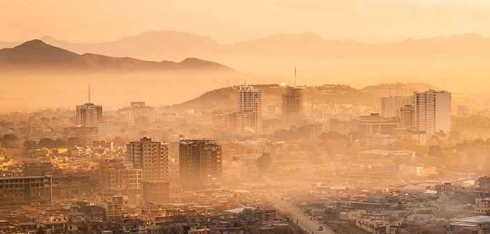 A view over Kabul, Afghanistan