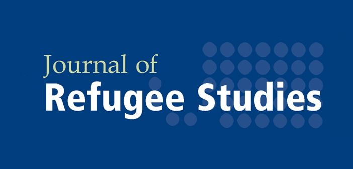 cover image of Journal of Refugee Studies