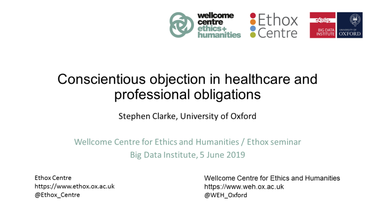 Conscientious objection in healthcare and professional obligations