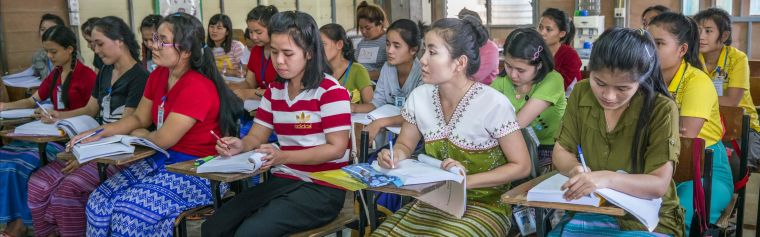 Thai students taking part in on of the training programmes provided by SMRU
