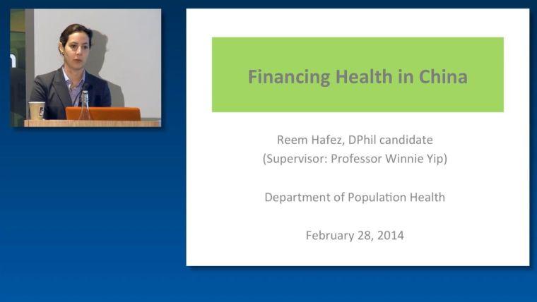 Reem Hafez: Financing Health in China