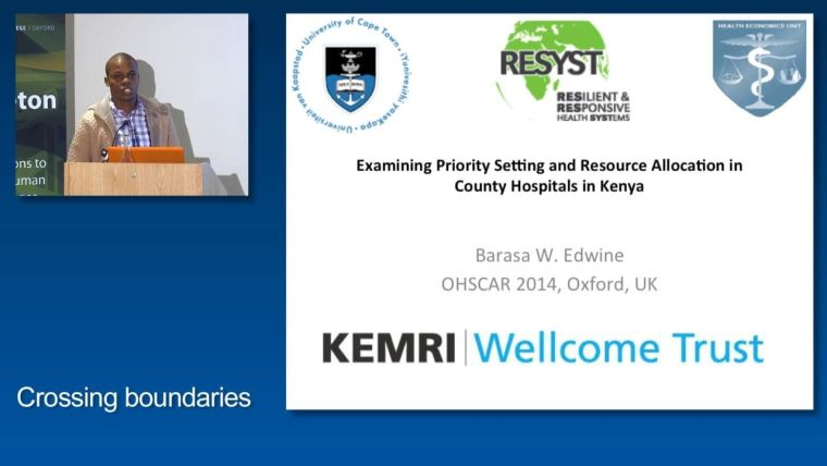 Edwine Barasa: Examining Priority Setting and Resource Allocation in County Hospitals in Kenya