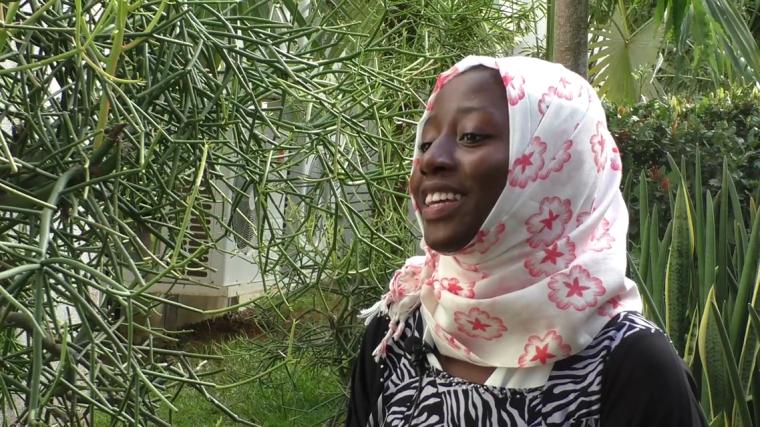 Student with SLAS school leavers attachment scheme at KWTRP in Kenya